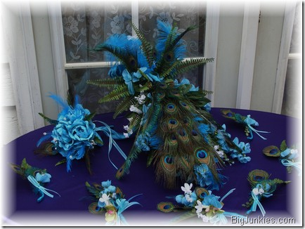 Custom Peacock Elegance bridal bouquet Custom Peacock Elegance bridal
