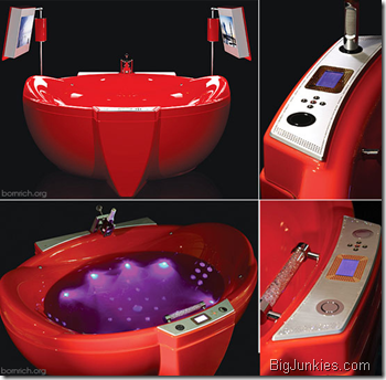 Red Diamond bathtub fit for the King and Queen